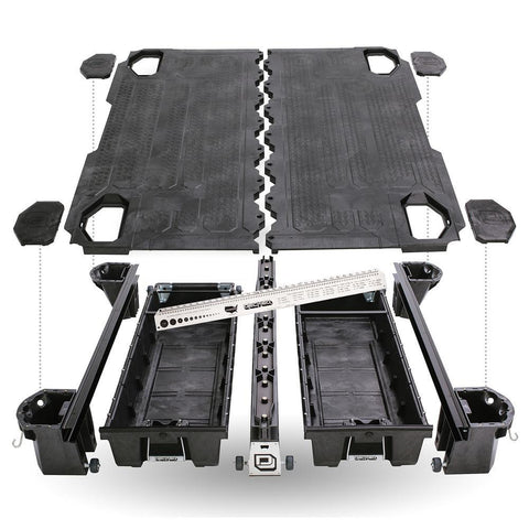 '07-19 Chevy/GMC 2500/3500 Truck Bed Storage System-8ft Bed Organization Decked