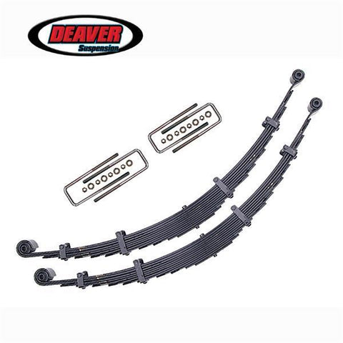"'07-Current Toyota Tundra 2WD/4WD 1.5"" Rear Lift Leaf Spring Replacement Kit Deaver Springs - SDHQ Off-Road"