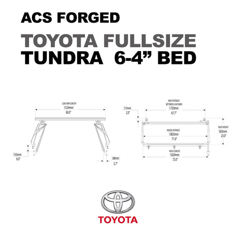 '07-Current Toyota Tundra-ACS Forged Bed Accessories Leitner Designs