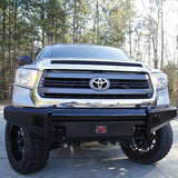 07-Current Toyota Tundra Black Steel Series Front Bumper Bumper Fab Fours