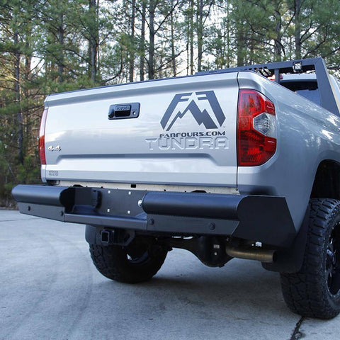 07-Current Toyota Tundra Elite Black Steel Series Rear Bumper Bumper Fab Fours