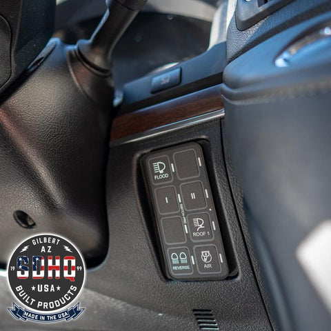 '08-Current 200 Series Toyota Landcruiser SDHQ Built Keypad Panel Mounting System Lighting SDHQ Off Road