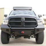 09-Current Dodge Ram 1500 Black Steel Series Front Bumper Bumper Fab Fours