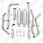 "09-Current Toyota Tundra 2 1/2"" Cat Back Dual Split Side Exhaust System Exhaust Systems MBRP"