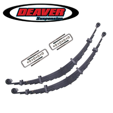 '10-14 Ford Raptor Deaver Rear Leaf Spring Replacement Kit Suspension Deaver Springs