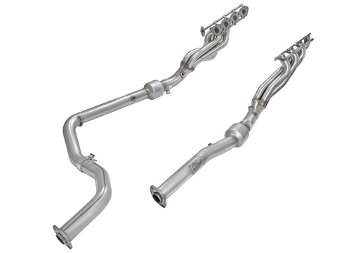 '10-18 Toyota Tundra Street Series Twisted Steel Long Tube Header & Connection Pipes Headers AFE Power