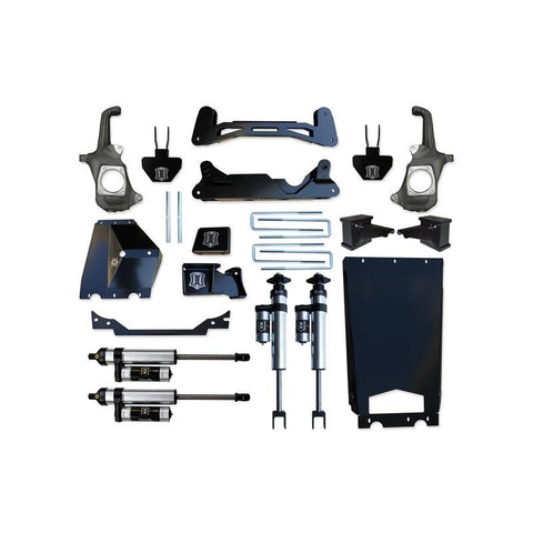 "'11-16 Chevy/GMC 2500HD/3500 6-8"" Suspension System with Torsion Drop-Stage 2 Suspension Icon Vehicle Dynamics"