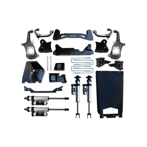 "'11-16 Chevy/GMC 2500HD/3500 6-8"" Suspension System with Torsion Relocation-Stage 3 Suspension Icon Vehicle Dynamics"