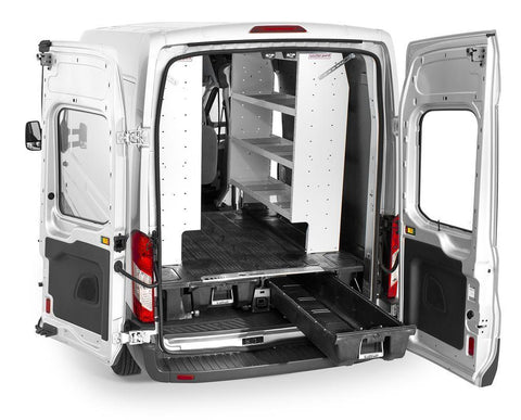 14-Current Ford Transit Cargo Van Storage System Organization Accessories Decked