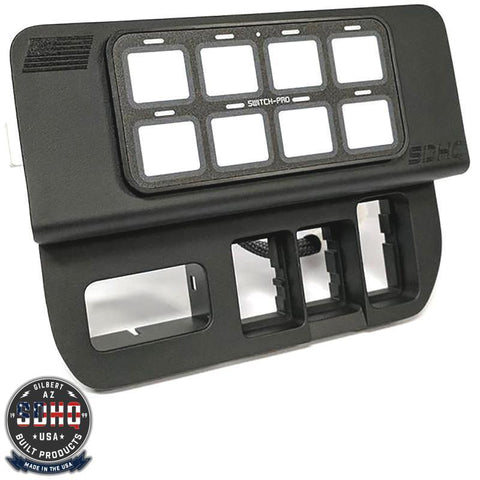 '16-Current Tacoma Specific 8-Switch Power Panel with Concealed Mounting Hardware Lighting SDHQ Off Road