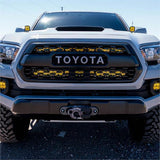 '16-Current Toyota Tacoma SDHQ Built Behind the Grille Dual LED Light Bar Mount Lighting SDHQ Off Road