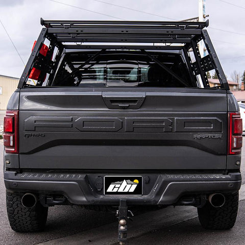 '17-Current Ford Raptor Cab Height Bed Rack Bed Rack CBI Off Road