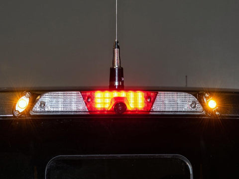 '17-Current Ford Raptor Third Brake Light Antenna Mount with Rigid LED's Communication Bullet Proof Diesel
