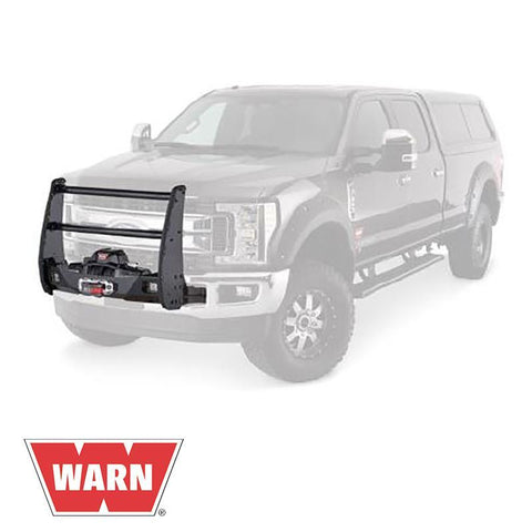 "17-Current Ford SuperDuty Gen III Trans4mer Series Bolt-on Center-only ""Tall"" Grille Guard Winch Mount Warn Industries"