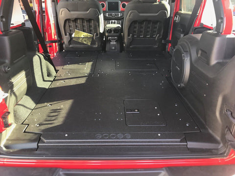 18-Current Jeep JLU Sleeping Platforms Interior Accessoires Goose Gear