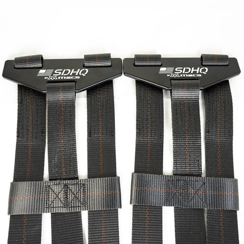 2 Inch Tire Straps for SDHQ Built in Bed Chase Racks-Black Powder Coat Tie Downs Mac's Tie Down