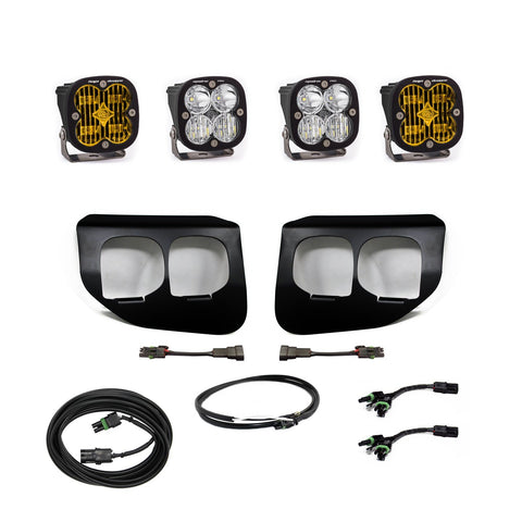 '20-Current Ford F250/350 Squadron PRO/SAE Dual Fog Light Kit Lighting Baja Designs