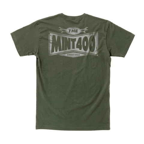 2019 Mint 400 Crew Chief T-Shirt (Army Green) Apparel Dirt Co.