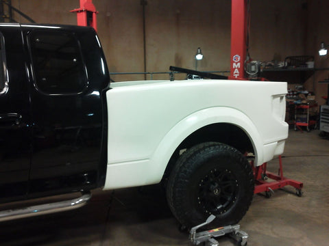 97-03 Ford F150 to 1st Gen Raptor Conversion Bedsides Fiberglass Fiberwerx