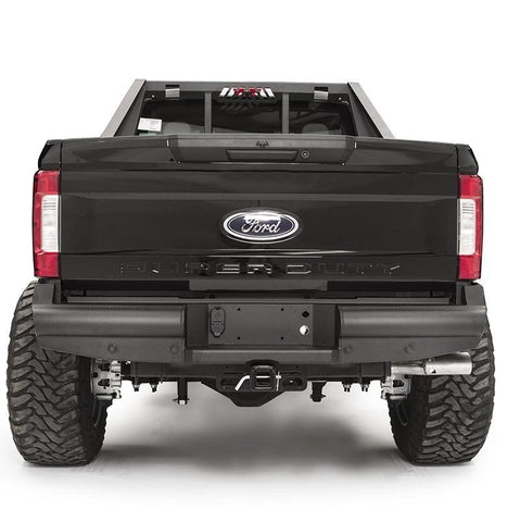 99-Current Ford F250/350 Elite Black Steel Series Rear Bumper Bumper Fab Fours