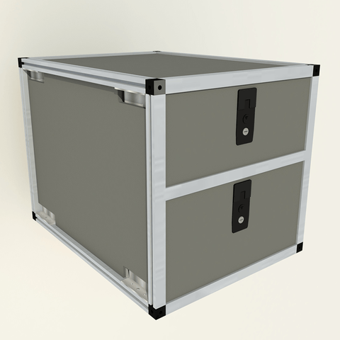 "Double Drawer Module-19 3/16"" x 25"" Depth Interior Accessoires Goose Gear"