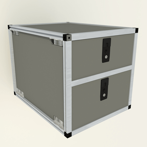 "Double Drawer Module-19 3/16"" x 28"" Depth Interior Accessoires Goose Gear"