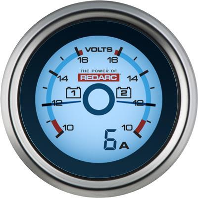 Dual Voltage 52MM Monitoring Gauge Electrical Redarc