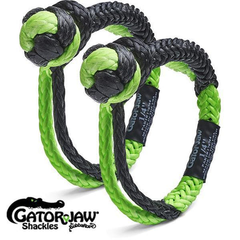"Mini Gator-Jaw 1/4"" Soft Shackles (Qty 2)"