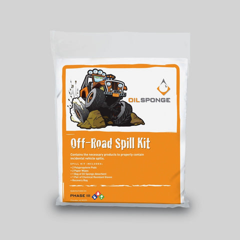Off Road Spill Kit Oils, Greases , Additives Oil Sponge