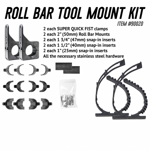 Roll Bar Tool Mount Kit Quick Fist Clamp Quick Fist Clamps