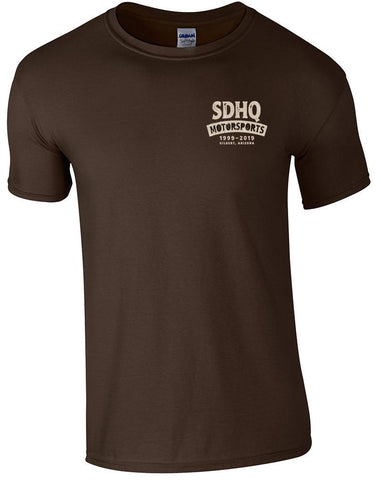 SDHQ Motorsports 20 Year Anniversary Brown Men's T-Shirt
