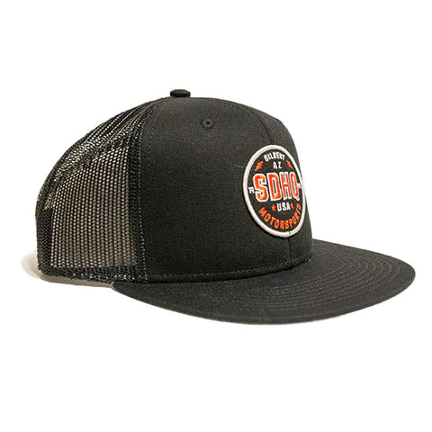 SDHQ Motorsports Black Trucker Style Snapback Hat Apparel SDHQ Off Road