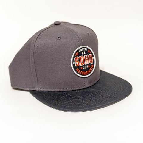 SDHQ Motorsports Gray Snapback Hat Apparel SDHQ Off Road