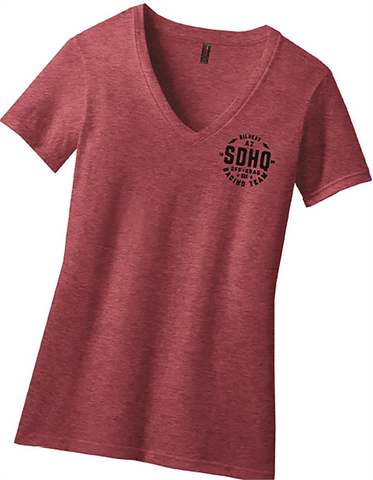 SDHQ Womens 2018 Race T-Shirt | V-Neck | Red Apparel SDHQ Off Road