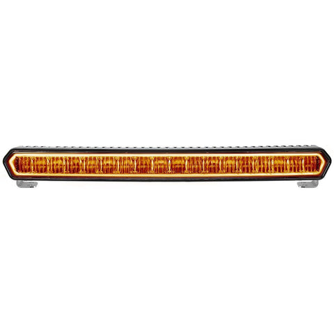 "SR-L Series 20"" Off-Road LED Light With Amber Halo Lighting Rigid Industries"