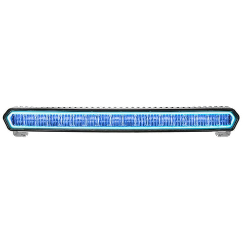 "SR-L Series 20"" Off-Road LED Light With Blue Halo Lighting Rigid Industries"