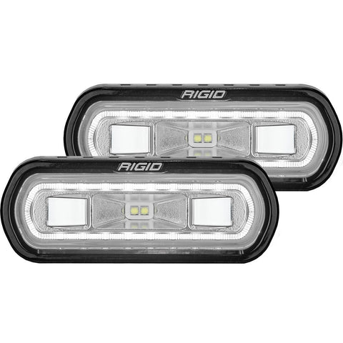 SR-L Series Off Road Spreader Pod White Halo | Pair Lighting Rigid Industries