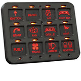 Switch Pros RCR-Force-12 | 12 Switch Power Panel System Electrical Switch Pros