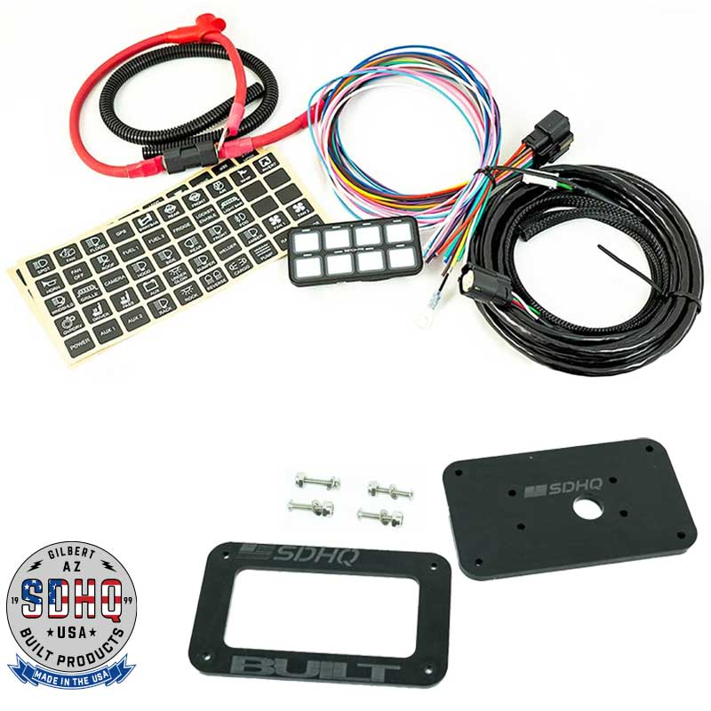 Switch Pros SP-9100 8-Switch Panel System with SDHQ Built Universal Keypad Mount