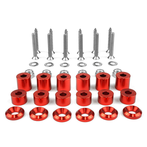 Tech Plate - 42pc Tech Plate Mounting Red Hardware Kit Tech Plate BuiltRight Industries
