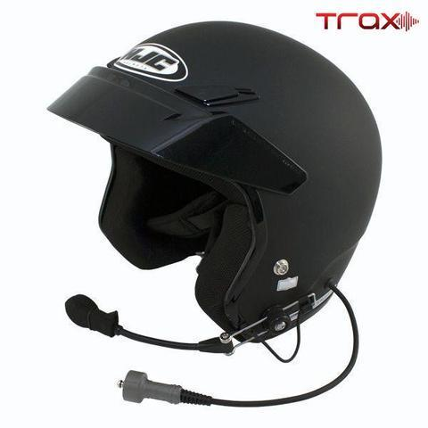 TRAX HJC CS-5N Open Face Wired Helmets PCI Radios