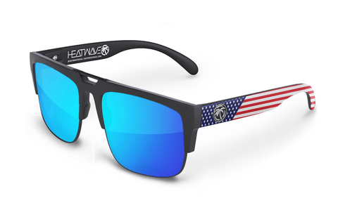 USA Interceptor Series Stars and Stripes Sunglasses Sunglasses Heatwave