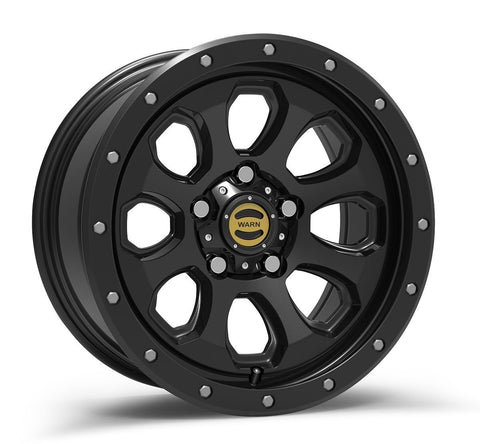 "Warn Epic Wheels | 17"" Moonsault Wheel-Black Wheels Warn Industries"