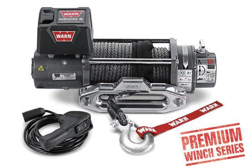 M8000-S Premium Winch Spydura Synthetic Rope 8,000 Lb Capacity Winch Warn Industries