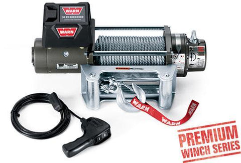 Warn XD9000 Premium Winch W/100 FT Wire Rope 9,000 Lb Capacity Winch Warn Industries