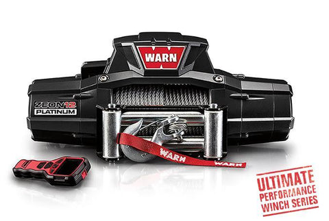 Warn ZEON 12 Platinum Winch 80' Wire Rope 12,000 Lb Capacity Winch Warn Industries