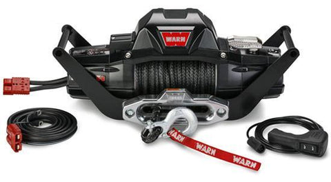 "Warn Zeon 8-S 3/8"" Synthetic Rope Portable Winch Multi-Mount Kit 8,000 Lb Capacity"