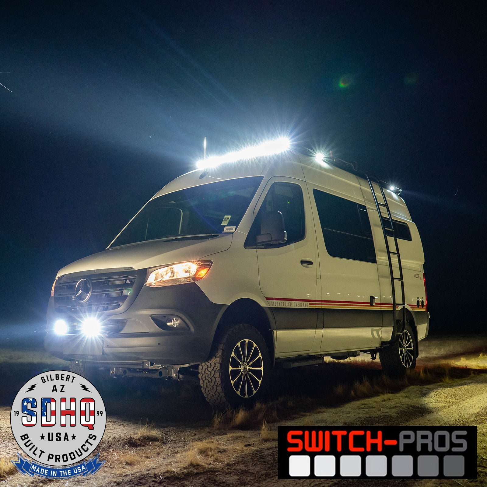 SDHQ Built Switch Pros Mount | Mercedes Sprinter
