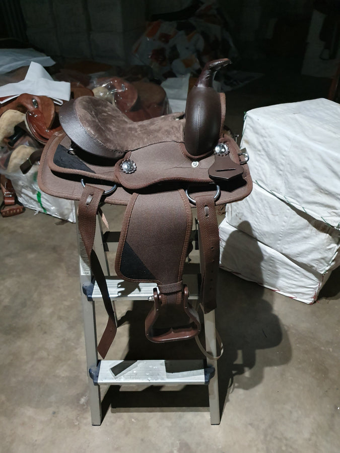 Brown Little Synthetic Western Saddle