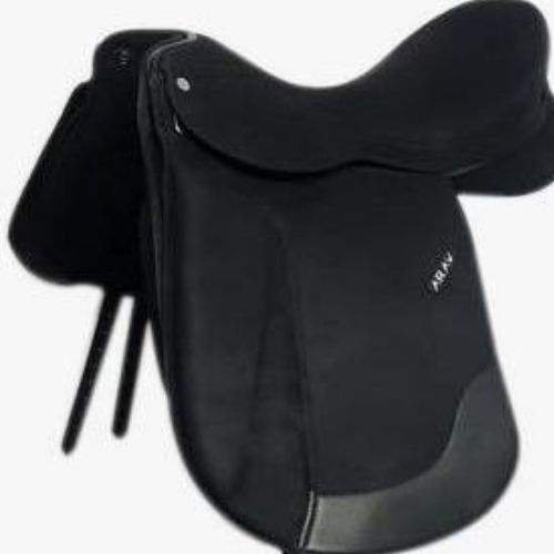 ARAV-CHANGEABLE GULLET-Equigrip suede Dressage Saddle-  With 4 Gullet set - Size 16/17/18